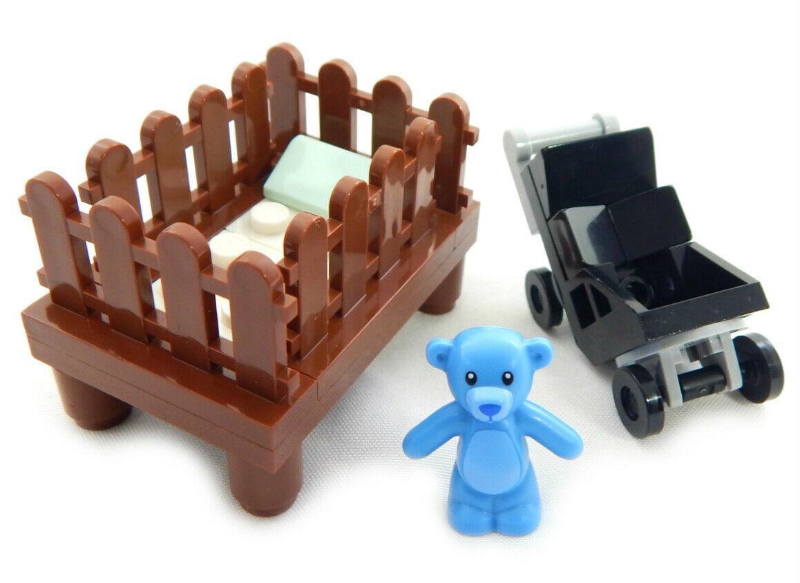 LEGO Baby Accessories Bundle - Crib, Teddy Bear and ...